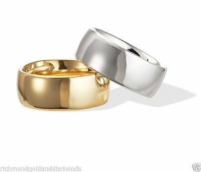 10Kt Solid White Yellow Gold Plain Fit Wedding Ring Band Mens Women 2Mm 3 4 5 6