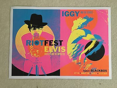 Iggy And The Stooges, Elvis Costello Chicago Riot Fest 2012 Concert Poster Arens