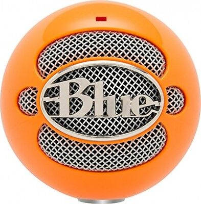 Blue Microphones Snowball Omnidirectional/Cardioid USB Microphone - Neon Orange