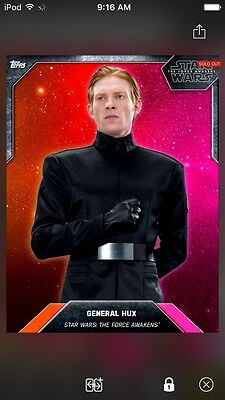 Topps Star Wars Digital Card Trader Red Gradient General Hux Base Variant Insert