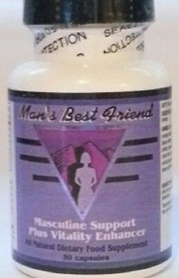 Man's Best Friend, Masculine Support & Vitality Enhancer! Contains Yohimbe Bark