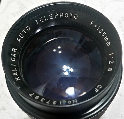 Kaligar Auto Telephoto f=135mm 1:2.8 CF lens with Lens Case