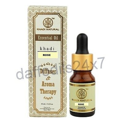 Khadi Herbal Rose 100% Natural Pure Undiluted Essential Oil Aromatherapy 10ml