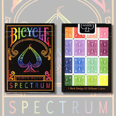 Spectrum Bicycle Deck Of Playing Cards Uspcc Full Rainbow Colours Magic Tricks