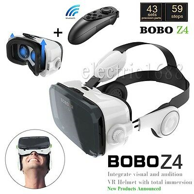 Z4 VR Box 3D Virtual Reality Glasses Headset Game W/Remote For Various Cellphone