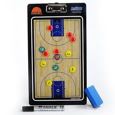 Portable Sports Coach Board PVC Basketball Train Tactical Magnetic Board Kit GH