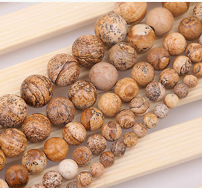 """50Pcs Natural Gemstone Smooth Round Loose Beads 15"""" 6mm 8mm 10mm 12mm"""