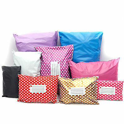 100 BAGS  STRONG POLY MAILING POSTAGE POSTAL QUALITY SELF SEAL All Size