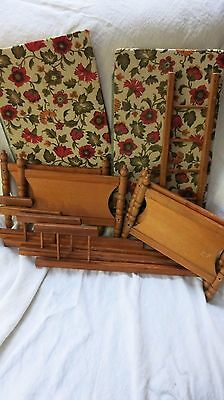 Vintage Stackable Doll Beds Wood Wooden Bunk Twin Beds 16L x 16H x 9W Good