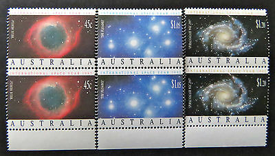 Australian Decimal Stamps:1992 International Space Year - Set of 3x2-Tabs MNH