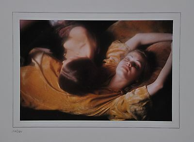 David Hamilton Limited Edition Photo 38x30cm On deep cushions Baudelaire Girls