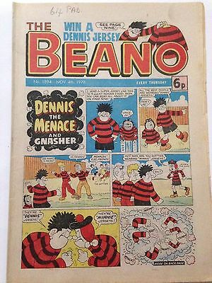 DC Thompson THE BEANO Comic. Issue 1894 November 4th 1978 **FREE UK POSTAGE**
