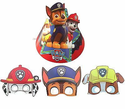 Pack of 6 Patrolling Dog Pokemon Happy Birthday Party Paper Cone Mask&Hats Fun