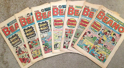 6x 1980's BEANO COMICS *Deals Available for Multiple Purchases* FREE UK POSTAGE.