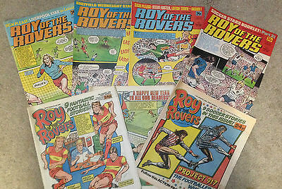 8x 1980's ROY of the ROVERS Comics  **** FREE UK POSTAGE ****