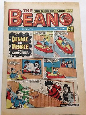 DC Thompson THE BEANO Comic. Issue 1785. October 2nd 1976 **FREE UK POSTAGE**
