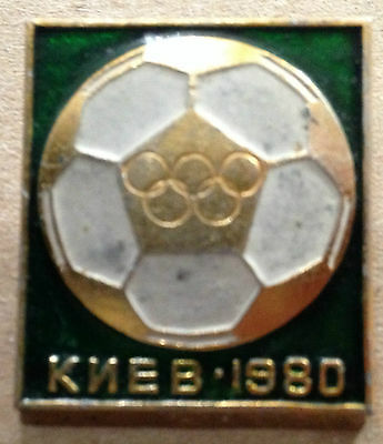 Moscow Olympic Games 1980. Original Kiev Football Badge. *****FREE POSTAGE*****