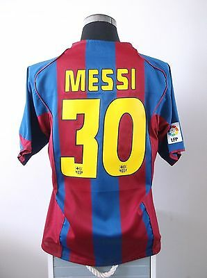 Lionel MESSI #30 Barcelona Home Football Shirt Jersey 2004/05 (L)