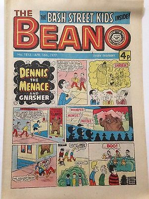 DC Thompson THE BEANO Comic. Issue 1813 April 16th 1977 **FREE UK POSTAGE**