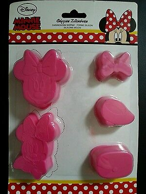 Disney Silikon 5teilig kleine Minnie Mouse Backform Kuchenform Silicone Mold new