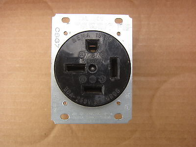 Leviton 8450 50A 250V 3Ø HBL 8450 Style Stright Blade Receptacle 15-50R, Used