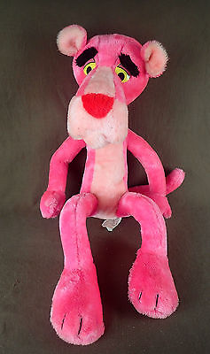 "Pink Panther Plush Doll * 30"" HUGE poseable bendable * Vintage 1980 Mighty Star"