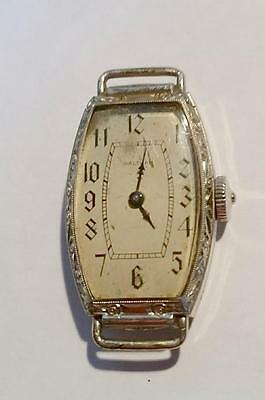 Vintage, 14K. Gold Filled, Waltham Watch, Oblong in Shape, 15 Jewels, No Band