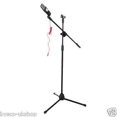 High Quality Professional Boom Microphone Mic Stand Holder Adjustable 2 Clips EC