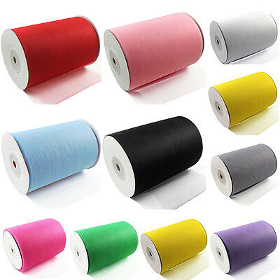"Tutu TULLE ROLLS 6"" Wide x 100ards Soft Nylon Netting Fabric Crafts Skirts EC"