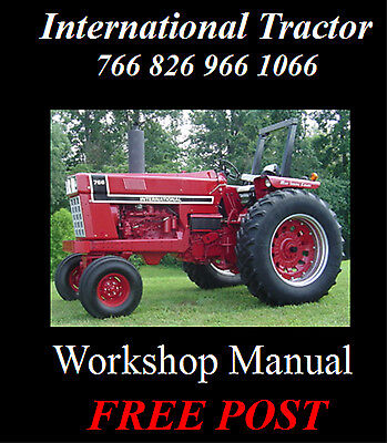 International 766 826 966 1026 1066 Tractor Workshop Service Repair Manual Cd