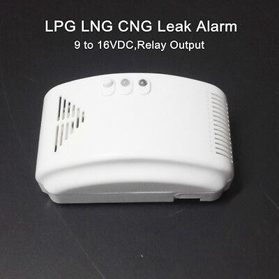 RV Propane Gas Alarm LP Gas LNG CNG Leak Detector with Dry Contact Relay Output