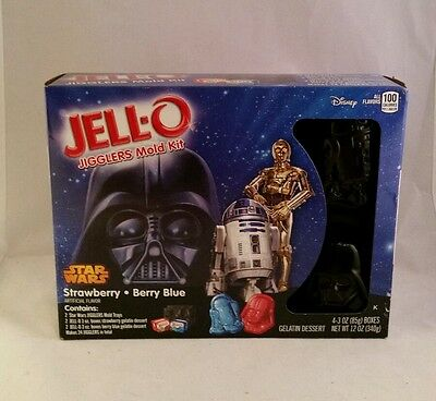 STAR WARS Jell-O Candy Mold Birthday Party Kit R2D2 Yoda C3P0 Darth Vader Jello