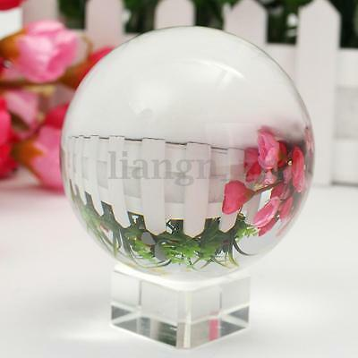 80MM Crystal Transparent Clear Magic Healing Ball Sphere and Beautiful Stand