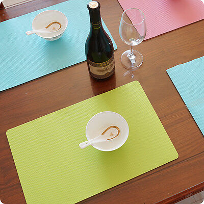 Waterproof Insulation Bowl Silicone Mat Placemat Kitchen Table Dining Protector