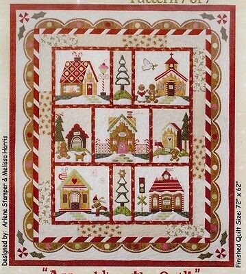 Gingerbread Village Block of the Month, full set of 7 Patterns