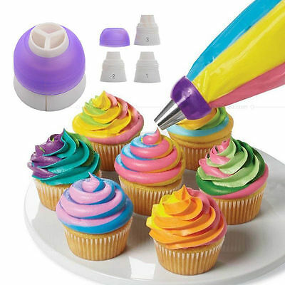 Icing Piping Bag Adapter Fondant Cake Decorating Nozzle Coupler Converter Tools