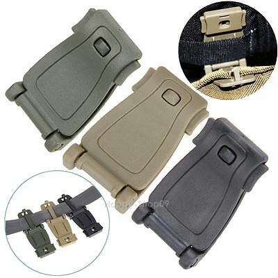 5pcs Molle Strap EDC Outdoor Hiking Backpack Bag Webbing Connecting Buckle Clip