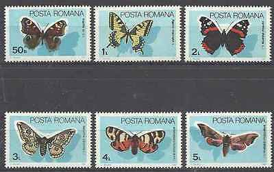 Timbres Papillons Roumanie 3587/92 ** lot 17332