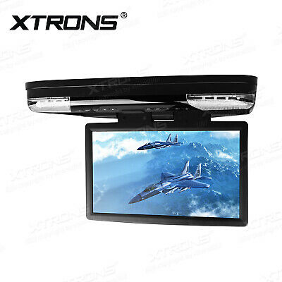 "15"" LCD Car Monitor Flip Down Overhead DVD Player HDMI USB 1080P 2pc Headsets"