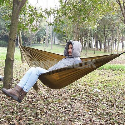 400 lbs Double Person Lightweight Parachute Fabric Hammock Outdoor Camping