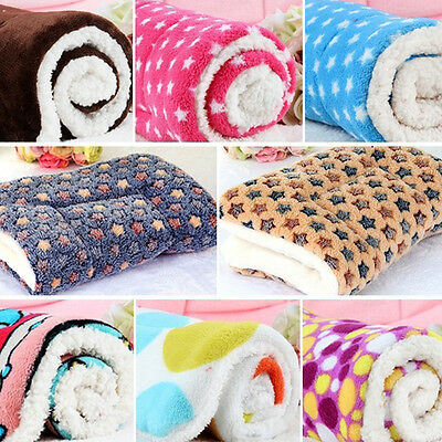 New Colorful Soft Warm Pet Dog Blanket Puppy Cushion Cashmere Mat Coral 50*32cm