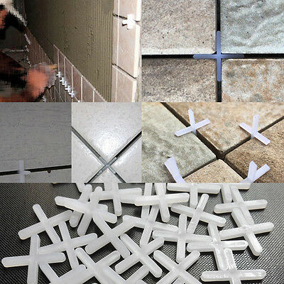 100Pcs Wall Floor Tile Spacers Cross Tiling Ceramic Tilers Plumbers Pack 1-5mm