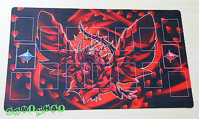 F162# FREE MAT BAG Custom Yugioh Black Rose Dragon TCG CCG Playmat Pendulum Zone