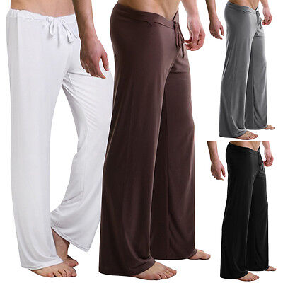 Mens Soft Pajamas Pyjamas Pants Bottoms Sleep Bottoms Loose Homewear Trousers