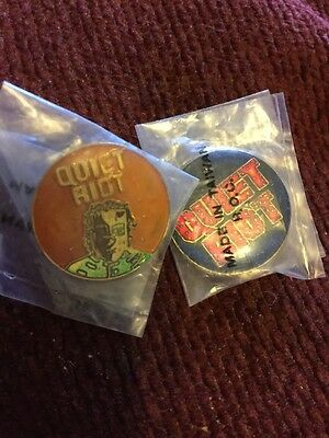 Quiet Riot Lot Of 2 From 80's Buttons Pins
