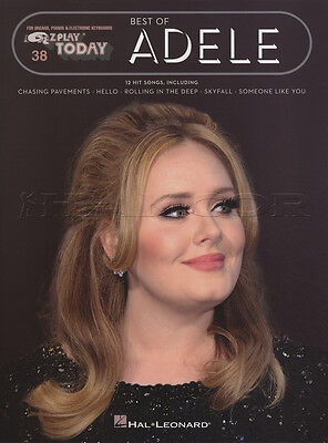 Best of Adele EZ Play Today Keyboard Music Book 12 Hit Songs Easy 19 21 25 E-Z
