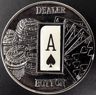 "2008 One Dollar ""Dealer Button"" from the Republic of Palau! Ace of Spades! 50 mm"