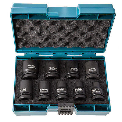 Makita D-41517 Impact Wrench Socket Set In Carrying Case 8-24MM -