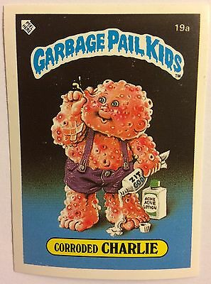 Corroded Charlie 19a Garbage Pail Kids (1985) UK 1st Series Sticker/1980's/Topps