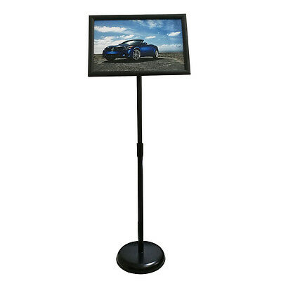 Adjustable Steel Poster Stand, Graphic Size 11 X 17 Inches